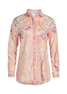 Etro Paisley Swirl Cotton Button Down Shirt