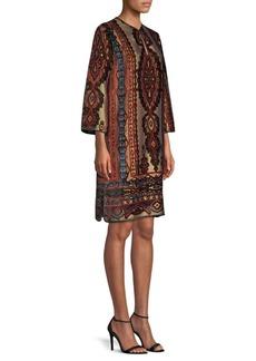 Etro Paisley Velvet Tunic Dress