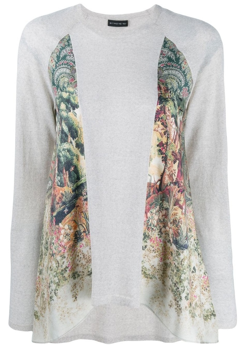 Etro panelled sweatshirt