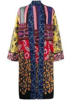 Etro patchwork cardi-coat