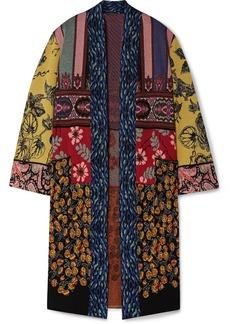 Etro Patchwork Metallic Jacquard-knit Cardigan
