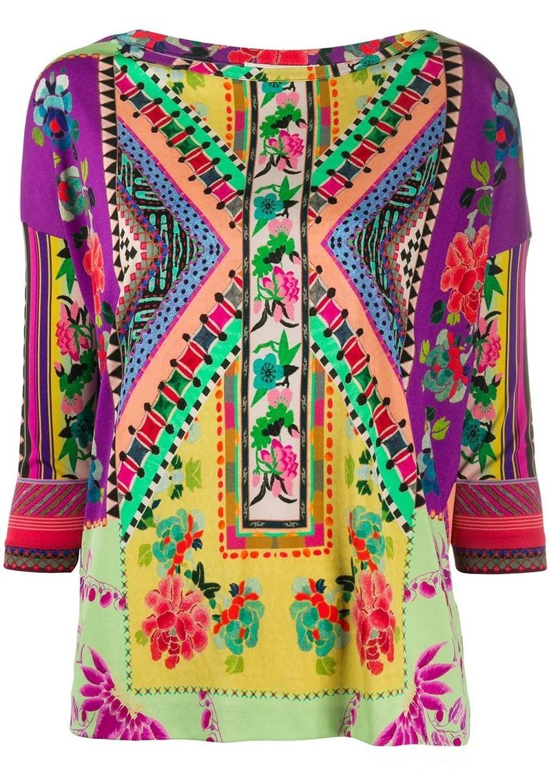 Etro patchwork print top