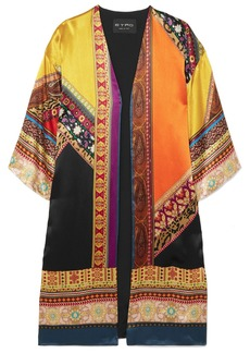 Etro Patchwork Printed Hammered-satin Robe