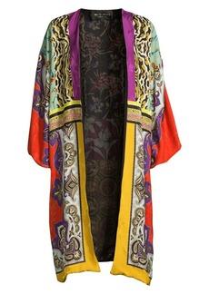 Etro Patchwork Silk-Blend Kimono