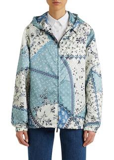 Etro Patchwork Zip-Up Hooded Jacket