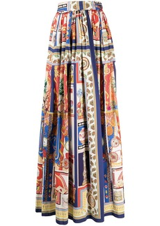 Etro patterned high-rise maxi skirt