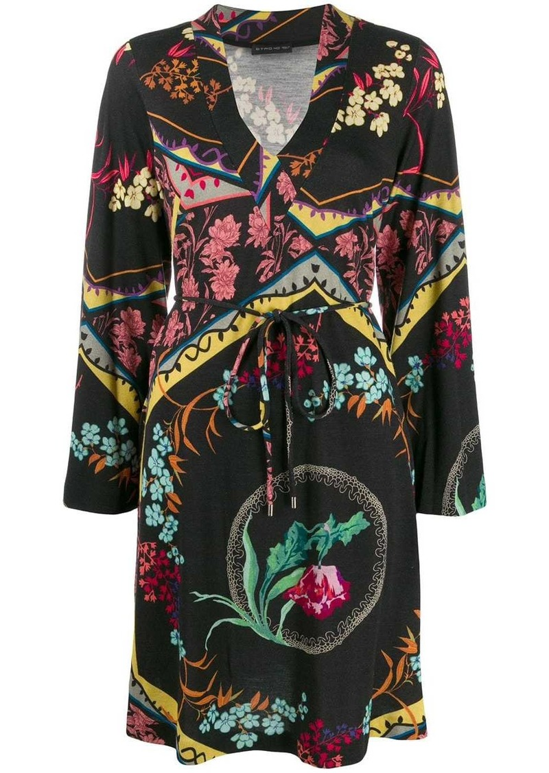 Etro patterned long sleeve dress