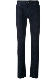 Etro patterned skinny jeans