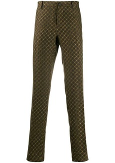 Etro patterned straight leg trousers