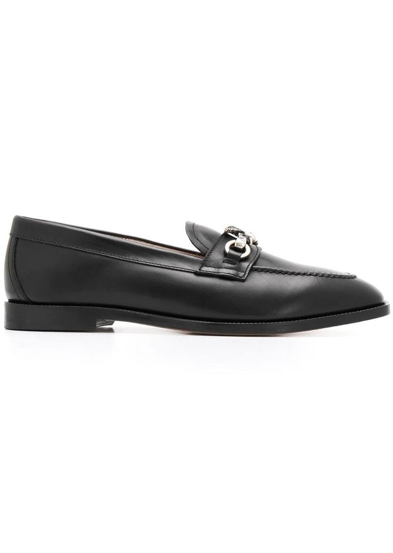 Etro pegaso logo flat loafers