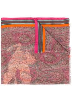 Etro Pegaso print scarf