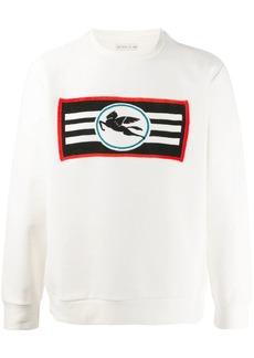 Etro Pegasus logo intarsia jumper