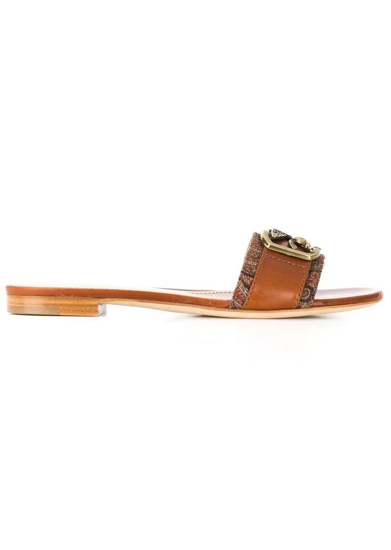 Etro Pegasus plaque sandals