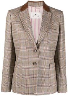 Etro plaid check wool blazer