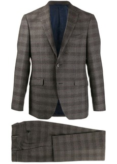 Etro plaid single-breasted suit