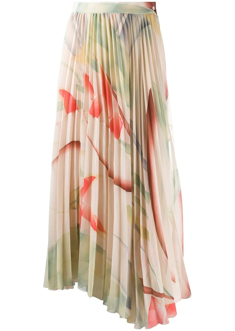 Etro pleated maxi skirt