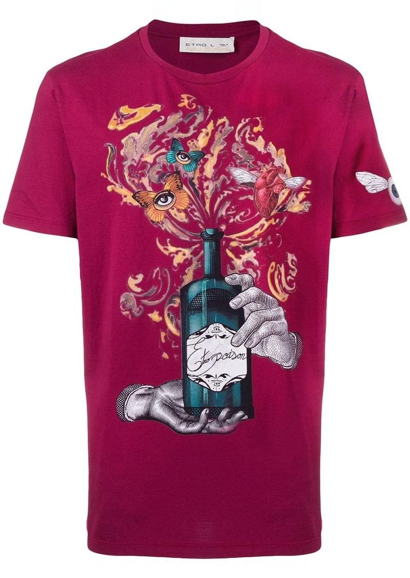 Etro poison bottle print T-shirt