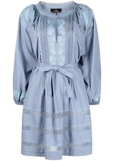 Etro prairie puffed-sleeve cotton dress