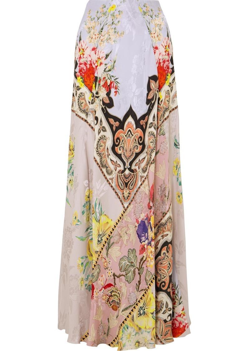 Etro Printed Crepe-jacquard Maxi Skirt