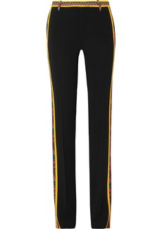 Etro Printed Crepe Straight-leg Pants