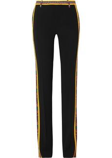Etro Printed crepe straight-leg pants