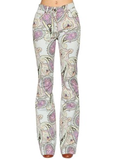 Etro Printed Denim Flared Jeans