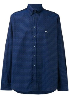 Etro printed flared shirt