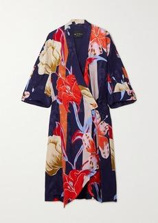 Etro Printed Floral-jacquard Robe