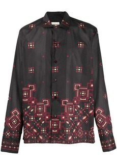 Etro printed long sleeve shirt
