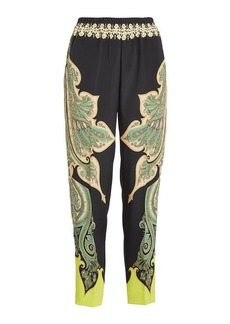 Etro Printed Pants with Silk