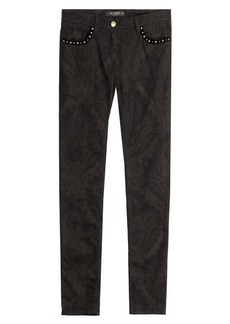 Etro Printed Pants with Stud Embellishment