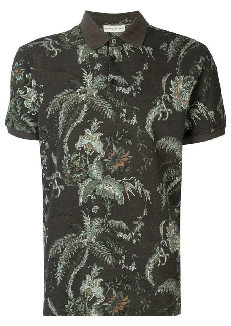 Etro printed polo shirt