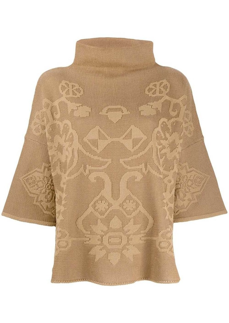Etro printed poncho top