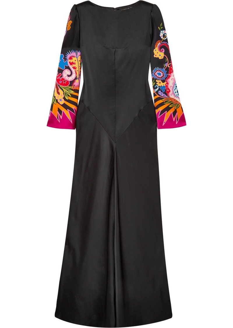 Etro Printed Satin Gown