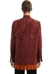 Etro Printed Silk & Cotton Caftan Shirt