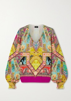 Etro Printed Silk-blend Sweater