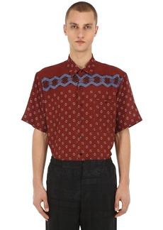 Etro Printed Silk Bowling Shirt