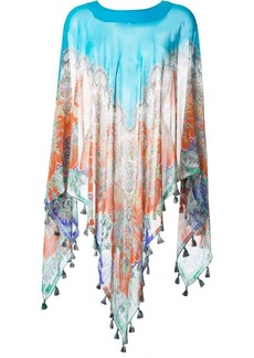 Etro printed silk cape