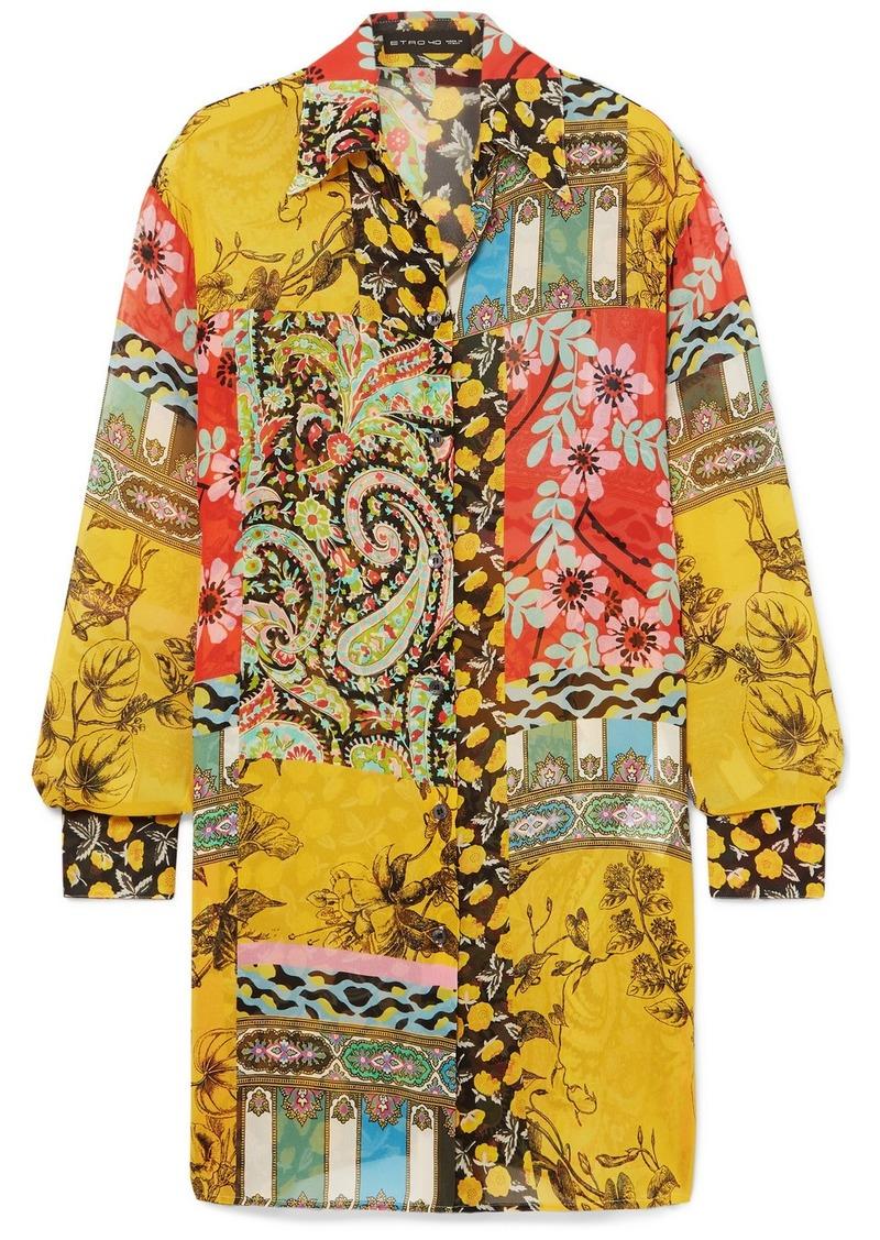 Etro Printed Silk-chiffon Tunic