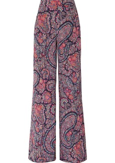 Etro Printed silk crepe de chine wide-leg pants