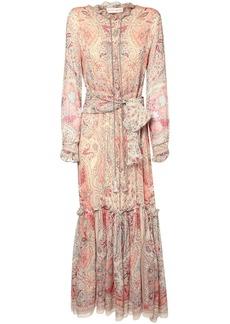 Etro Printed Silk Georgette Long Dress