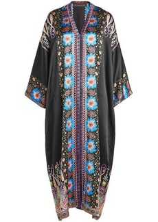 Etro Printed Silk Kaftan