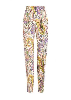Etro Printed Silk Pants