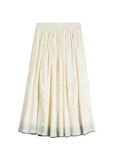 Etro Printed Skirt with Silk