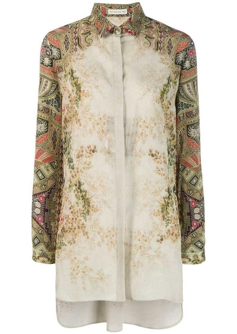 Etro printed sleeve blouse