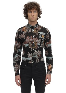 Etro Printed Stretch Cotton Jersey Shirt