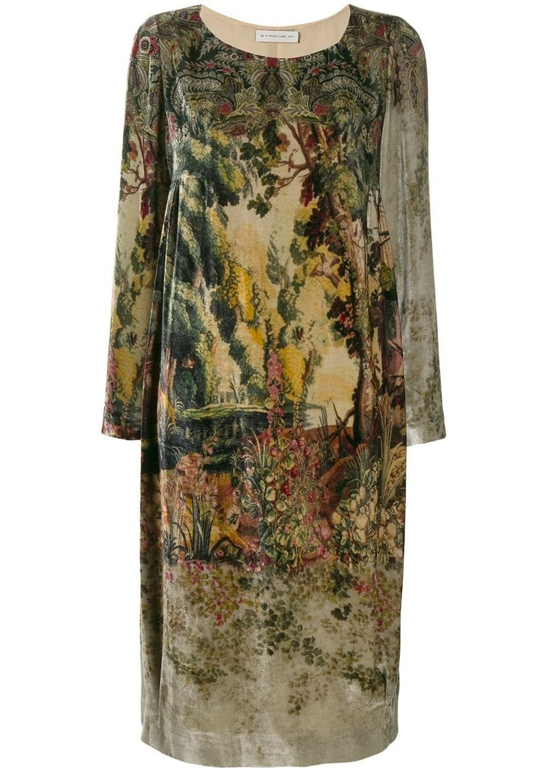 Etro printed sweater dress
