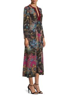 Etro Printed Tassel Kaftan Midi Dress