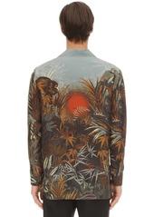 Etro Printed Tiger Silk Bowling Shirt