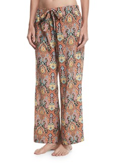 Etro Printed Wide-Leg Drawstring Beach Pants